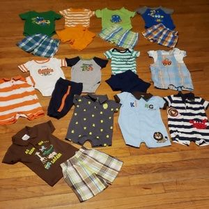 0 to 3 month Baby Boy  Summer Lot